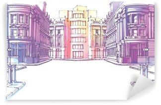 Papier Peint Vinyle Les bâtiments - ancien et le nouveau