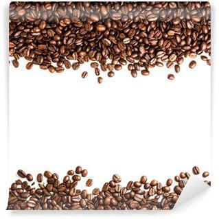 Papier Peint Vinyle Les grains de café isolé sur fond blanc avec atelier pour te