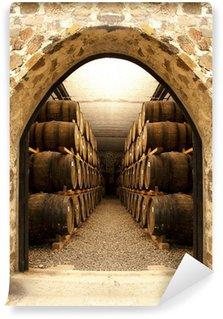 Papier Peint Vinyle Les tonneaux de vin