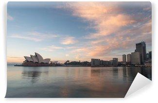 Papier Peint Vinyle Lever de soleil à Opéra historique de Sydney, Australie