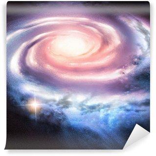 Papier Peint Vinyle Light Years Away - galaxie spirale à distance.