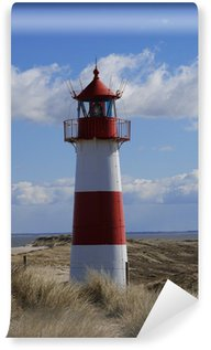 Papier Peint Vinyle Liste phare coude de Sylt dunes