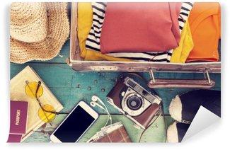 Papier Peint Vinyle Location Suitcase
