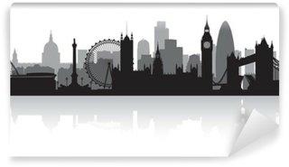Papier Peint Vinyle London city skyline silhouette