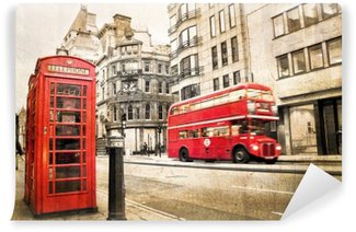 Papier Peint Vinyle Londres Fleet street millésime