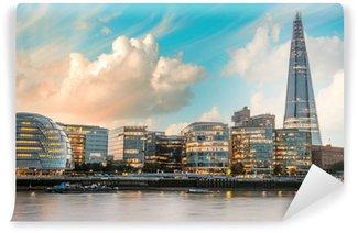 Papier Peint Vinyle Londres Paysage urbain, y compris la ville, vu de Tower Bridge à