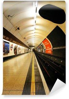 Papier Peint Vinyle Londres plate-forme de métro