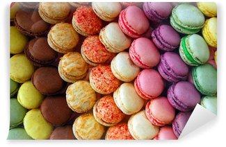 Papier Peint Vinyle Macarons délicieux