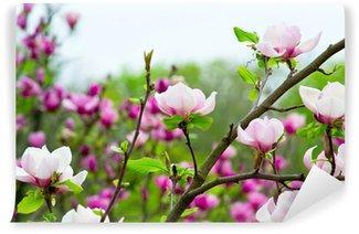 Papier Peint Vinyle Magnolia rose