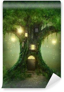 Papier Peint Vinyle Maison arbre fantaisie