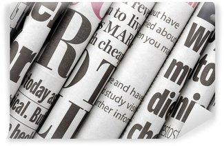 Papier Peint Vinyle Manchettes des journaux