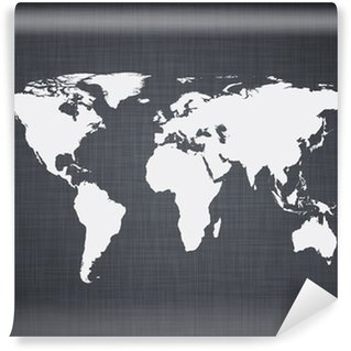 Papier Peint Vinyle Mappemonde fond blanc