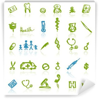 Papier Peint Vinyle Medical icons for your design