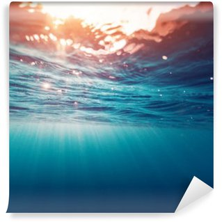 Papier Peint Vinyle Mer bleu