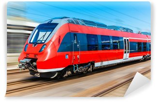 Papier Peint Vinyle Moderne train à grande vitesse