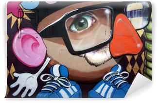 Papier Peint Vinyle Monigote en graffiti
