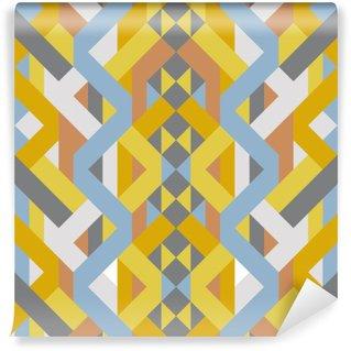 Papier Peint Vinyle Motif abstrait de style déco rétro géométrique de l'art du pastel