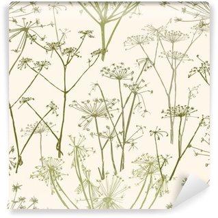Papier Peint Vinyle Motif des fleurs parapluie