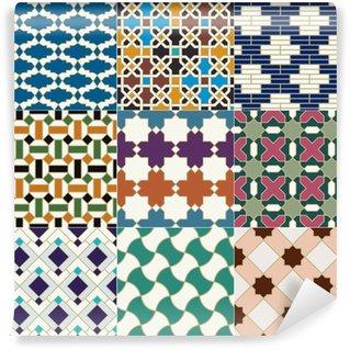 Papier Peint Vinyle Motif marocain sans soudure tuile islamique