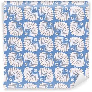Papier Peint Vinyle Motif vintage transparent avec des coquillages stylisés