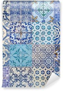Papier Peint Vinyle Motifs azujelo bleu