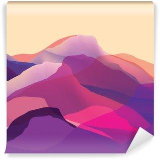 Papier Peint Vinyle Mountians couleur, vagues, surface abstraite, fond moderne, conception de vecteur Illustration pour vous projetez