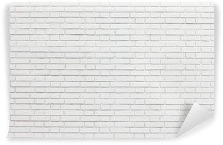 Papier Peint Vinyle Mur brique blanc