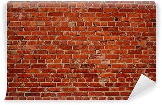 Papier Peint Vinyle Mur brique rouge