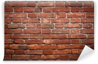 Papier Peint Vinyle Mur de brique rouge vieux grunge texture
