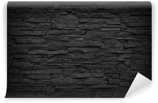 Papier Peint Vinyle Mur de brique sombre