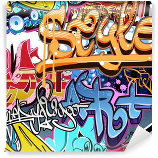 Papier Peint Vinyle Mur de graffiti. Urban fond de vecteur de l'art. Texture transparente