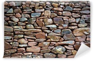 Papier Peint Vinyle Mur de pierre rustique