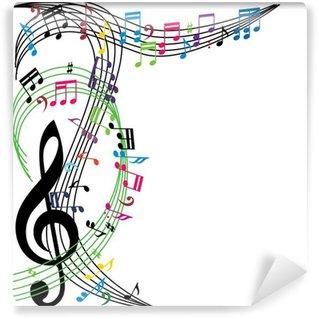 Papier Peint Vinyle Musique notes de fond, thème musical élégant