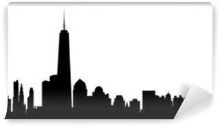 Papier Peint Vinyle New York Skyline - vecteur