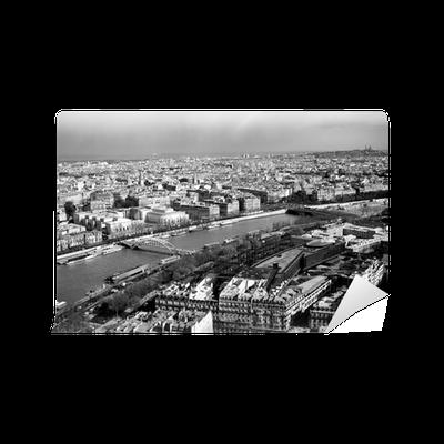papier peint noir et blanc belle vue de paris depuis la tour eiffel pixers nous vivons pour. Black Bedroom Furniture Sets. Home Design Ideas