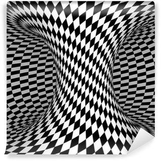 Papier Peint Vinyle Noir et Blanc Checkers