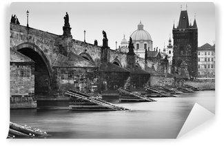 Papier Peint Vinyle Noir et blanc Pont Charles