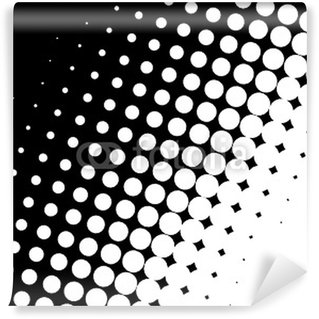 Papier Peint Vinyle NOIR FOND BLANC POIS VECTEUR