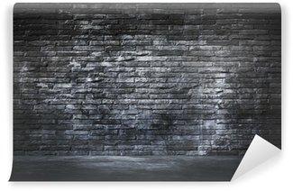 trendy papier peint vinyle noir mur de briques et de ciment tage with papier peint brique noir. Black Bedroom Furniture Sets. Home Design Ideas