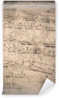 Papier Peint Vinyle Notes de musique de cru