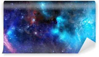 Papier Peint Vinyle Nuage de gaz nébuleuse dans l'espace intersidéral
