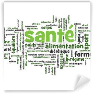 """Papier Peint Vinyle Nuage de mots-clés """"SANTE"""" (Médecine exercice hxlxp balises sport)"""