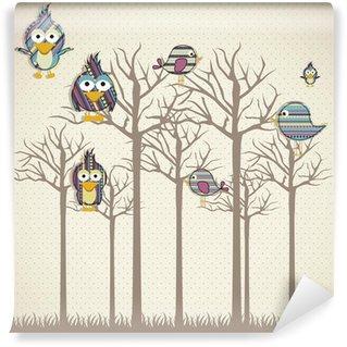 Papier Peint Vinyle Oiseaux icônes