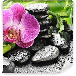 Papier Peint Vinyle Orchide rose