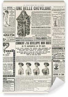 Papier Peint Vinyle Page de journal avec des meubles anciens publicité paris ca. 1919