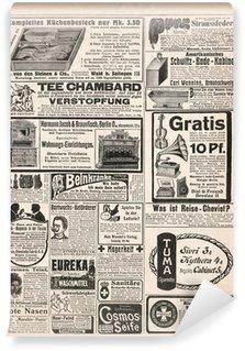 Papier Peint Vinyle Page de journal avec publicité antique 1909