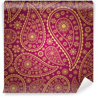 Papier Peint Vinyle Paisley transparente