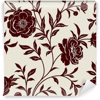 Papier Peint Vinyle Papier peint à fleurs