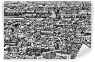 Papier Peint Vinyle Paris en noir et blanc
