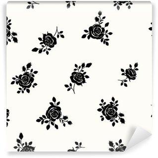 Papier Peint Vinyle Patron de roses